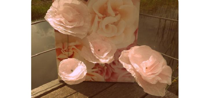 Tutoriel Fleurs en papier de soie